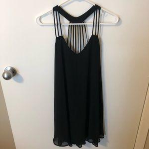 Strappy Back Black Dress